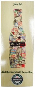 Placa Retrô Heineken Vertical Linha Vintage (42x16cm)