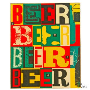 Placas Adesivadas Tema Bebida (19x23)cm