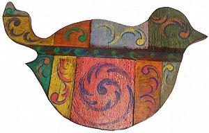 Painel Pássaro Tipo Quadro 1,24m  Coleção Luxo