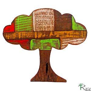 Quadro Artesanal Árvore em Madeira de Demolição