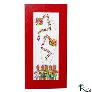 Quadro Crianças com Pipa (60x30)cm