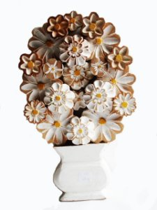 Quadro Flores P Branco Tipo Ânfora