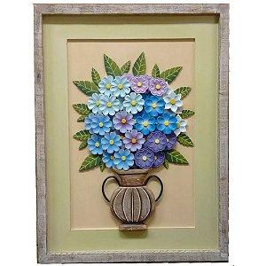 Quadro Vaso De Flores Tons Lilás (80 x 60)cm Luxo