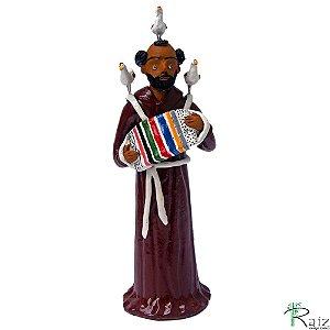 Escultura de Cerâmica São Francisco de Assis