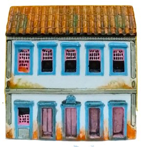 Fachada Réplica Sobrado Colonial 12 x 12cm