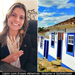 Kit 5 Lápis Personalizados Queimados na Madeira. Frases, Minas Gerais e Bandeira do Brasil