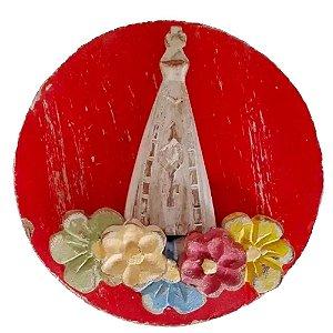 Quadro Mandala Nossa Senhora Aparecida Artesanal Linda P