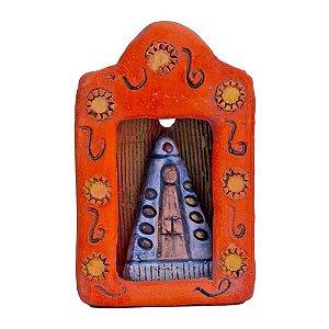 Oratório Em Cerâmica Nossa Senhora Aparecida