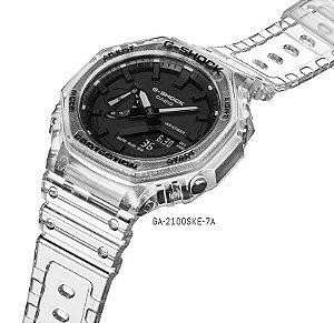 Relógio G-Shock GA-2100SKE-7ADR Série Transparent Pack *Carbon Core Guard