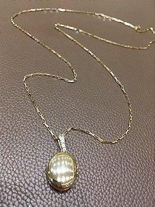 Relicario Prata com Banho de Ouro P05.449.174/P07