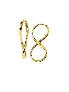 Brinco de Argola Infinito em Ouro 18K A01462192