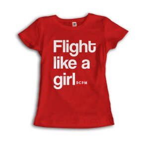 Camiseta Flight like a girl
