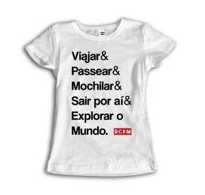 Camiseta Explorar o mundo