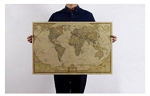 Pôster Mapa Mundi Vintage (47,5cm x 72,5cm)