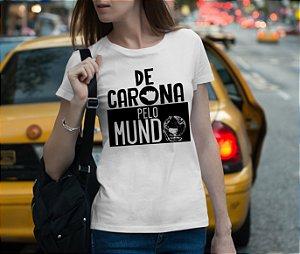 Camiseta De Carona Pelo Mundo - Clássica