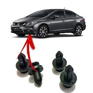 Presilha Rebite Curta com Trava de Metal Para-choque Linha Honda 5 unidades