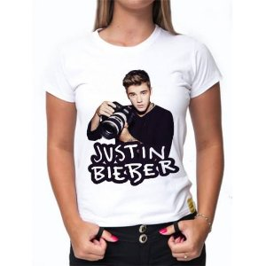 Camiseta Justin Bieber - Estampa Exclusiva