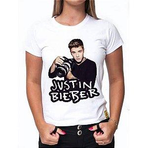 Camiseta Justin Bieber - Estampa Exclusiva