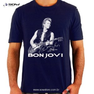 Camiseta Bon Jovi - Vários Modelos