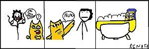 O Gato e o Banho