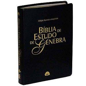 Bíblia de Estudo de Genebra - (Disponível nas cores Preta, Vinho ou Azul)