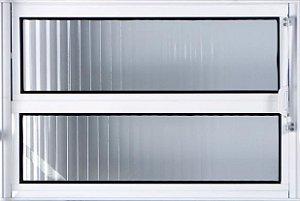 Vitro Basculante em Aluminio Branco