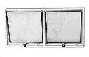 Vitro Maxim ar de Aluminio com 02 seções vidro mini boreal