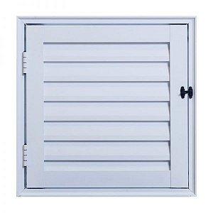 Portinhola Abrigo - Alçapão de Aluminio branco