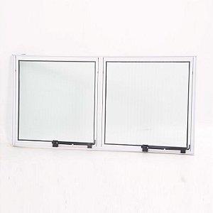 Vitro Maxim ar de Aluminio branco com 02 seções vidro mini boreal