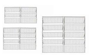 Vitro Basculante Aluminio Branco 2 Seções