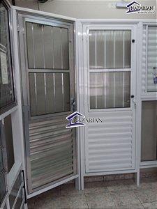 Porta Social Basculante Aluminio brilhante