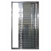 Porta Balcao Aluminio Brilhante 03 folhas