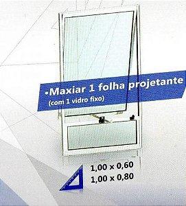 Vitro maxim ar aluminio branco com bandeira