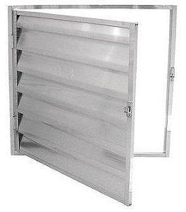 Porta abrigo / alçapão aluminio brilhante