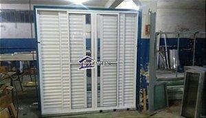 Porta Balcao Aluminio branco C/06 folhas