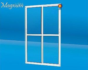 Porta de correr Alumínio 02 folhas Magnum Atlantica
