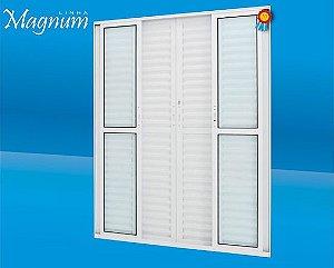 Porta Balcão de correr 06 folhas alumínio Magnum Atlantica