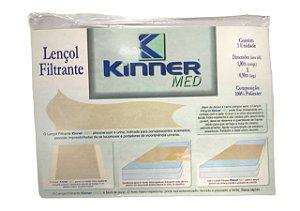 Lençol Filtrante Absorve Suor E Urina Solteiro Kinner Med