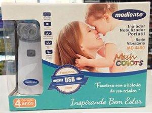 NEBULIZADOR COM REDE VIBRATÓRIA MESH COLORS MD4400 MEDICATE