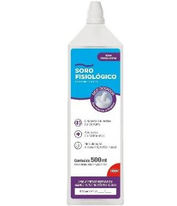 SORO FISIOLÓGICO CLORETO SÓDIO 500ML