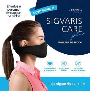 MASCARA REUTILIZÁVEL COM 2 UNIDADES SIGVARIS CARE TUBULAR