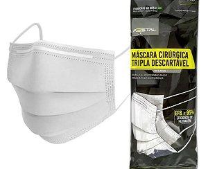 MASCARA CIRÚRGICA TRIPLA EFB-95% COM 12 UNIDADES KESTAL