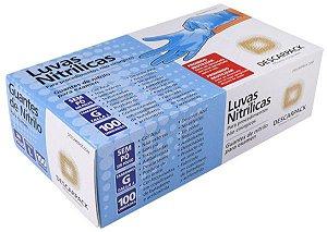 LUVA DE PROCEDIMENTO DE NITRILICA SEM TALCO CX100 UNID