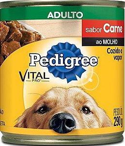 Ração Úmida Pedigree Carne ao Molho Adulto Vital Pro Lata 290g