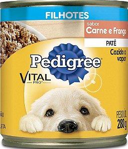 Ração Úmida Pedigree Lata Vital Pro para Cães Filhotes Sabor Carne e Frango 280g