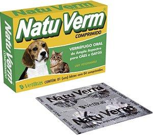 Vermífugo NatuVerm Comprimidos C/4