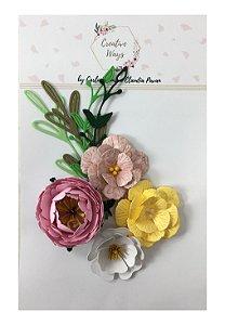 Flores de Papel P/ Scrapbook Creative Ways - Columbia
