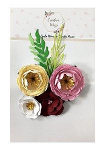 Flores de Papel P/Scrapbook Creative Ways - Tallahasse