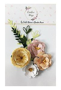 Flores de Papel P/Scrapbook Creative Ways - Nashville