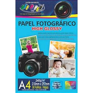 Papel Fotográfico Glossy A4 240 Gramas 50 Folhas Off Paper